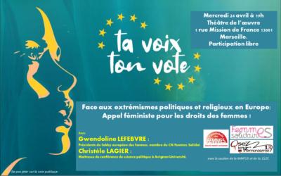 CONFÉRENCE : Face aux extrémismes politiques et religieux en Europe, Appel féministe pour les droits des femmes !